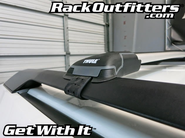 rack outfitters honda odyssey thule silver aeroblade edge base roof rack 39 11 14. Black Bedroom Furniture Sets. Home Design Ideas