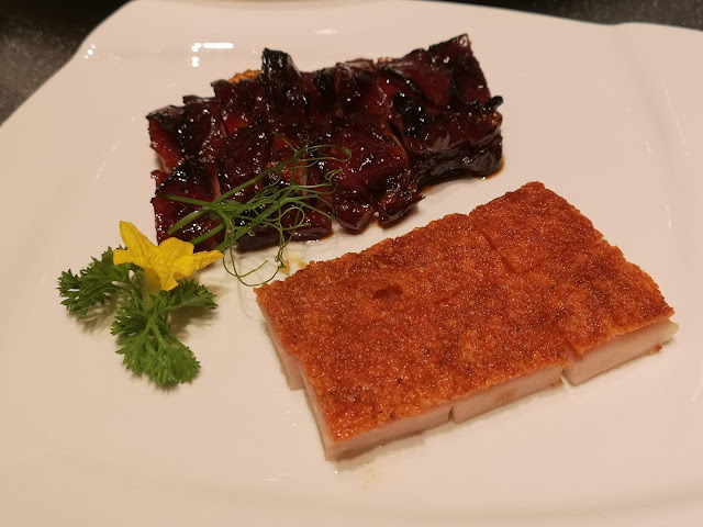 Signature Charred Honey BBQ Kurobuta Pork, Crackling Pork Belly