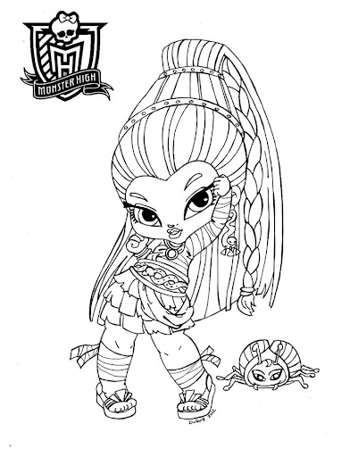 Dibujos Y Plantillas Para Imprimir Monster High