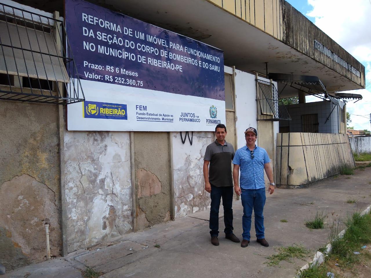 Prefeitura de Ribeirão inicia obras para instalação da Unidade do Corpo de Bombeiros