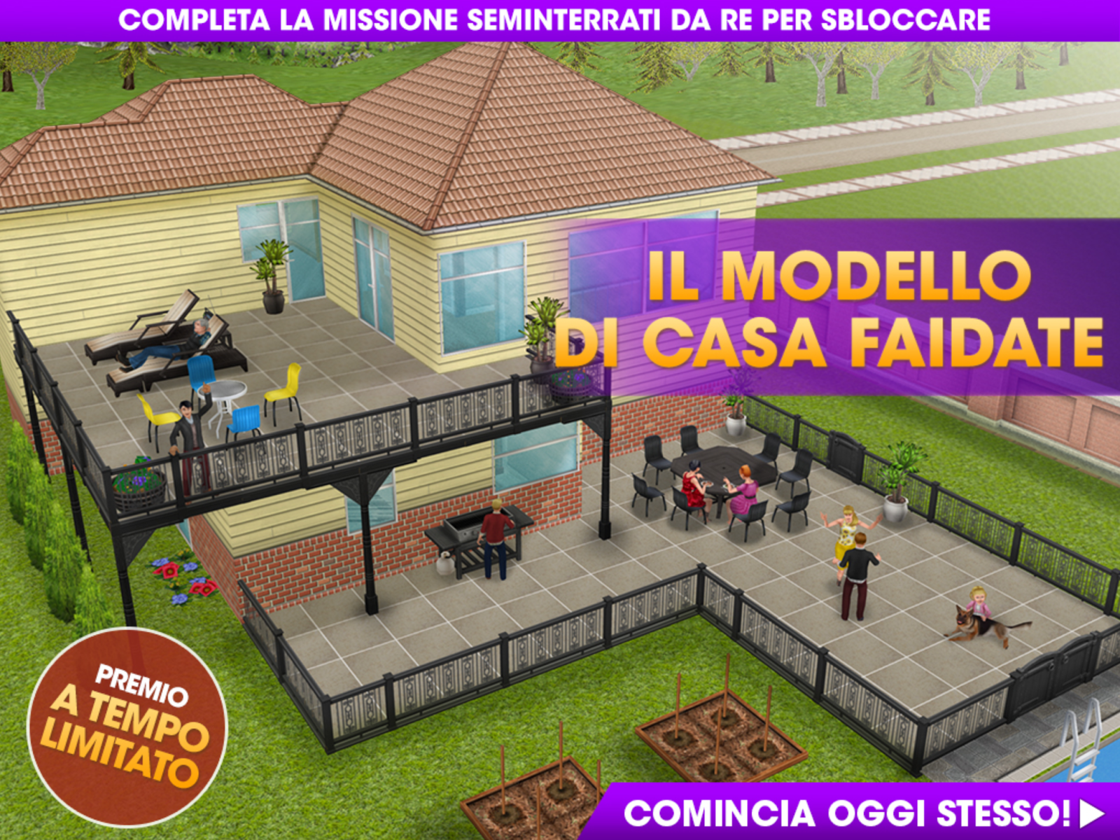 The sims freeplay it case faidate seminterrati da re for Armadio seminterrato non finito