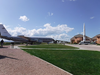 airplanes outside the South Dakota Air and Space Museum