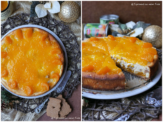 Mandarinen-Spekulatius-Cheesecake | Rezept | Backen | Kuchen | Weihnachten