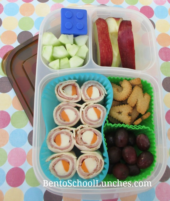 Tortilla pinwheels, bento school lunches