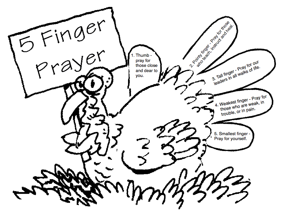 Faith, Family, & Fun 4 Kids: 5 Finger Prayer