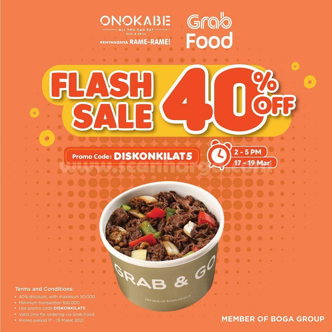 ONOKABE Promo FLASH SALE DISKON 40% via GRABFOOD
