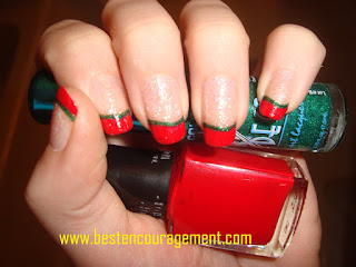 red nail arts images