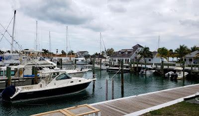 Boats docked at Palm Cay Marina.