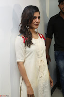 Samantha Ruth Prabhu Smiling Beauty in White Dress Launches VCare Clinic 15 June 2017 019.JPG