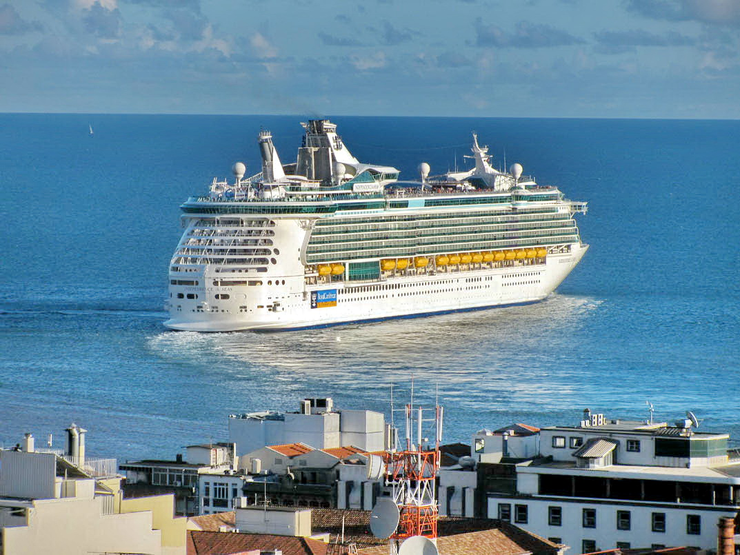 Independence of the Seas again today in Funchal