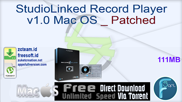 StudioLinked Record Player v1.0 Mac OS _ Patched