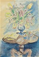Bukiet kwiatów na stoliku
