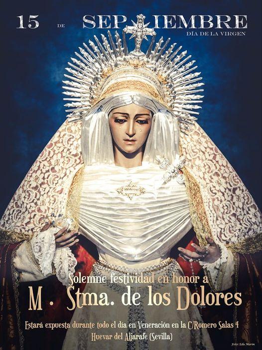 Cartel de los cultos de Virgen de los Dolores de Huevar del Aljarafe  2021
