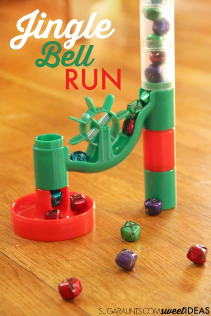 My kids love this jingle bell marble run visual tracking activity for working on fine motor skills and the sills needed for reading and writing!