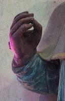 détail Statue de Saint Saëns Sidoine de Jumièges Corny Eure