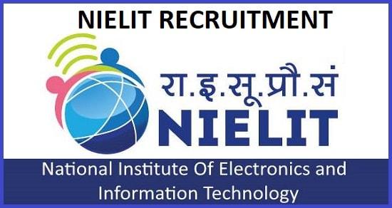 NIELIT Scientist, TA Recruitment 2020