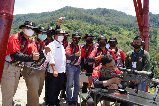 """Danrem 022/PT Dampingi Pangdam I/BB Buka Kejuaraan Menembak """"1st Indonesia Long Range Shooting Grand Prix 2021"""" Seri III"""