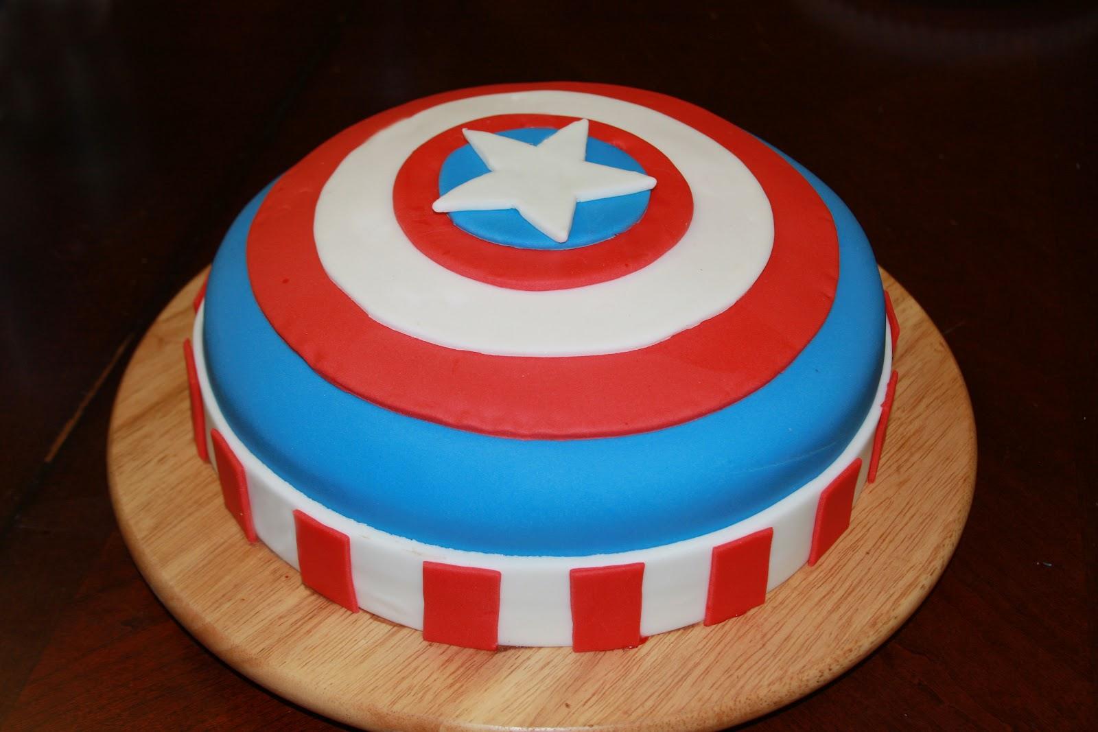 Captin America Birthday Cakes