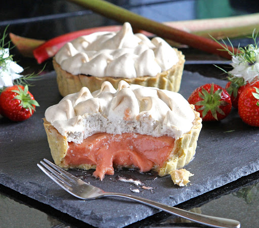 Gluten Free Alchemist Rhubarb Strawberry Meringue Pie