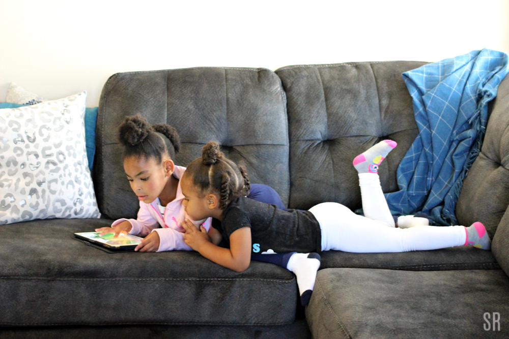 girls on a couch