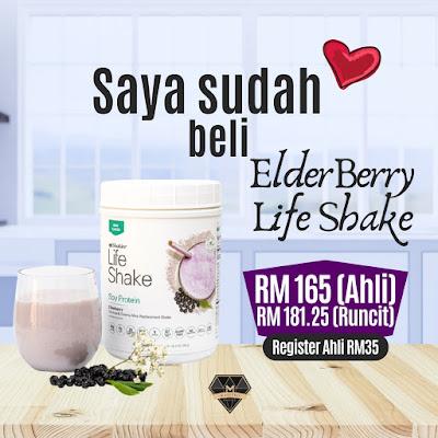 Life Shake Elderberry - Protein Terbaru Shaklee