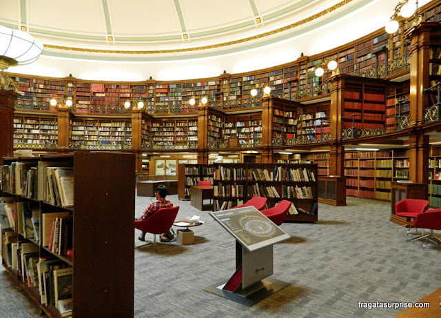 Picton Reading Room, sala de leitura histórica da Biblioteca Central de Liverpool