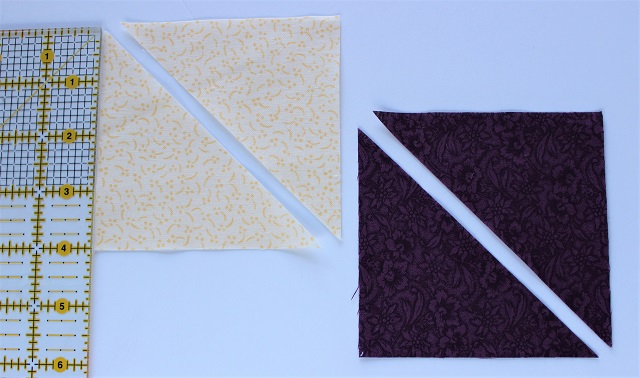 Brick Yard scrappy quilt block corner triangles
