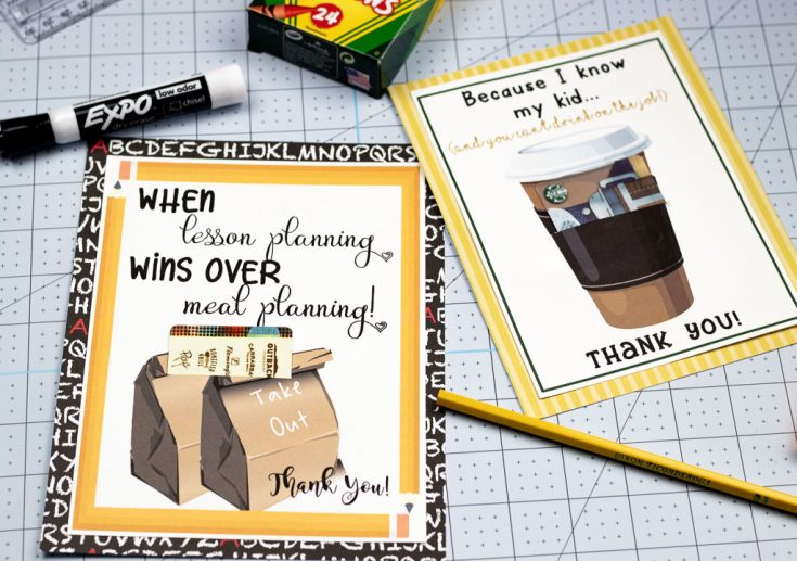 Printables make appreciating your teachers easier