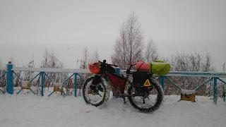 велопоход Нижний Новгород - Кинешма по заволжью зимой