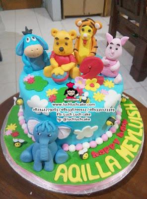 Kue Tart Winnie The Pooh Cake