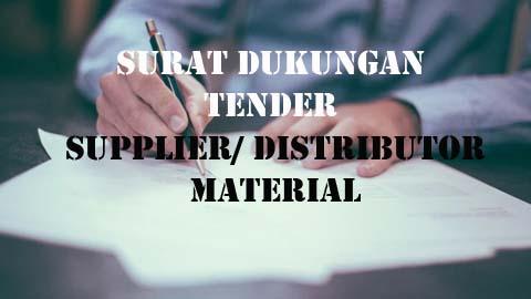 Surat Dukungan Distributor Material Untuk Tender Proyek Konstruksi