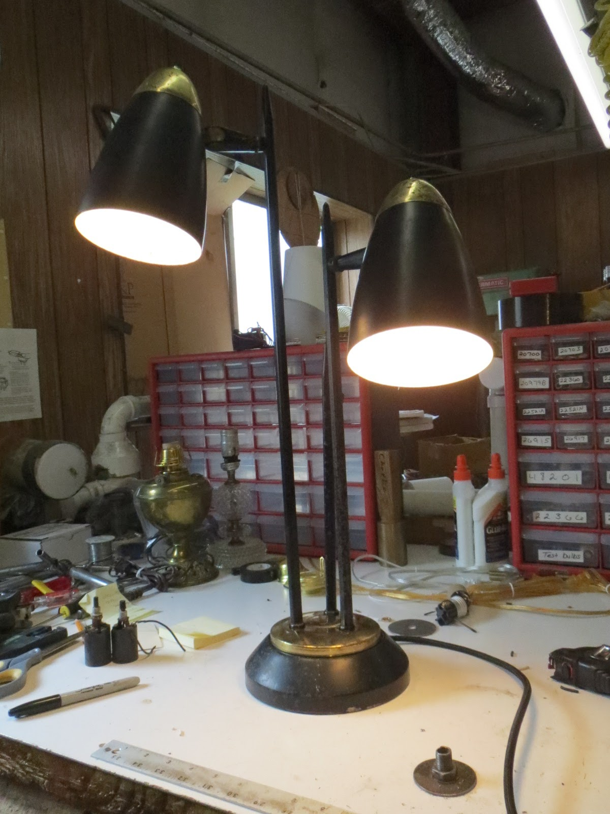 Lamp Parts And Repair Lamp Doctor Mid Century Table