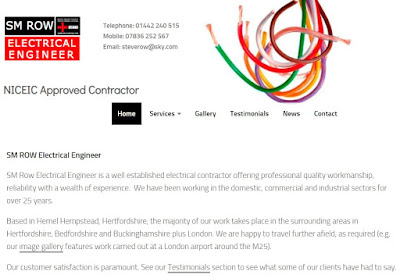 smrow.co.uk electrican electrical engineer