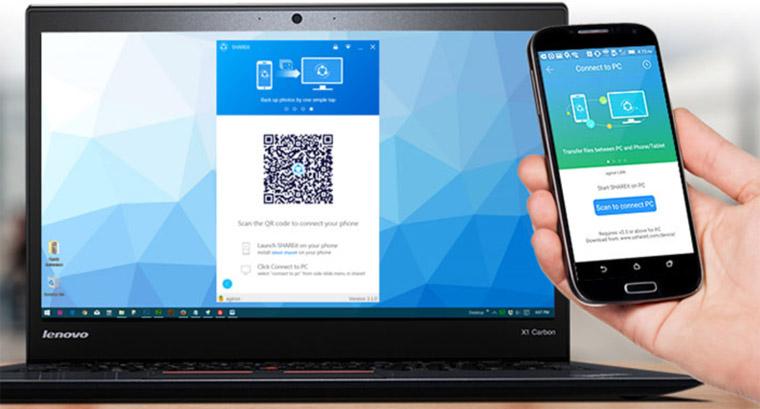 kirim file/data dari laptop/PC ke smartphone