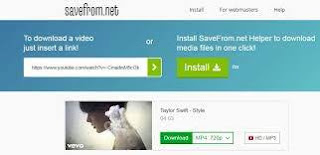 Interface Savefrom