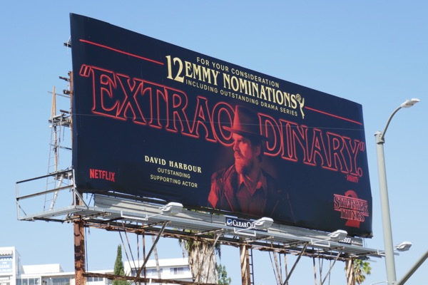 Stranger Things 2 Extraordinary Emmy nominee billboard