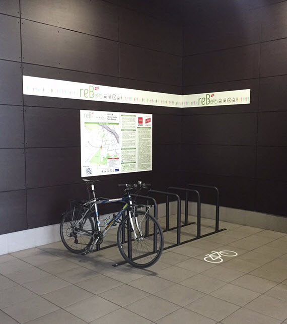 Calles recomendadas para llegar en bici a Plaza Elíptica