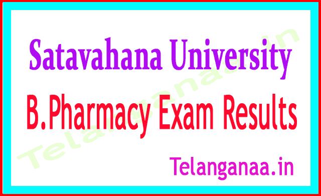 Satavahana University B.Pharmacy Exam Results