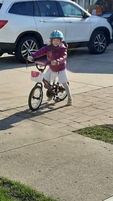 Long distance ride-by grandma visit. Image Credit Rae Luskin.