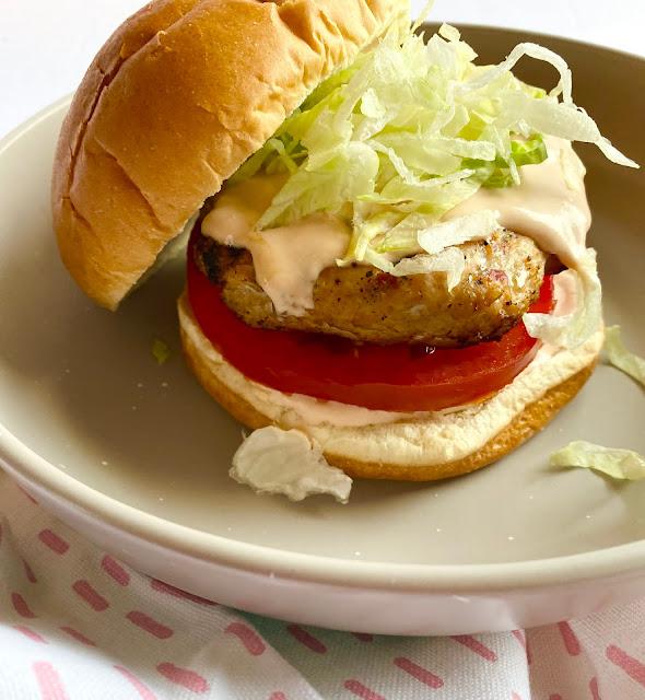 Spicy BBQ Chicken Burgers
