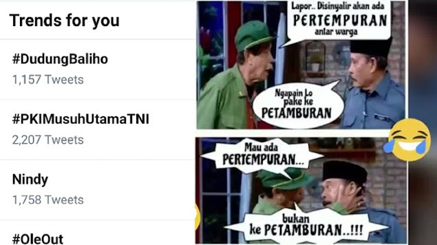 TNI Cabut Baliho HRS, Tagar #DudungBaliho Menggema