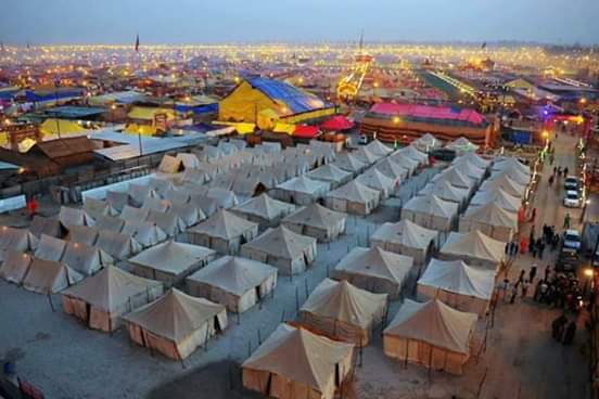 Tent city being constructed in Prayagraj ahead of Kumbh 2019