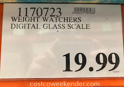 Deal for the Weight Watchers Digital Glass Scale at Costco