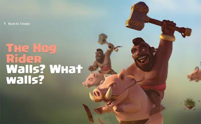 Info data lengkap strategi dan biaya upgrade Hog Rider di COC