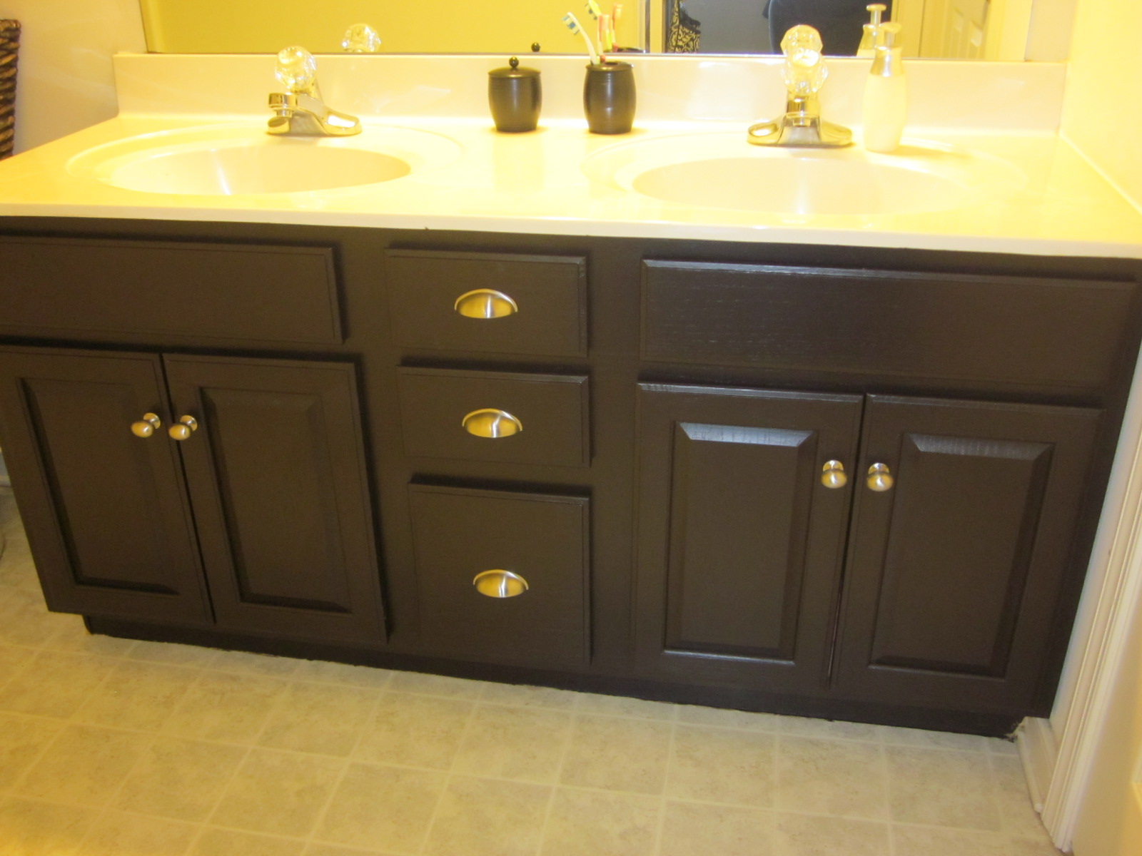Gel Stain Bathroom Cabinets