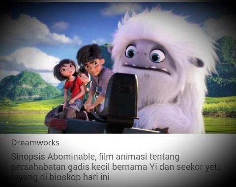 Sinopsis Abominable Film Animasi Persahabatan Yi dan Seekor Yeti, Tayang di Bioskop Hari Ini
