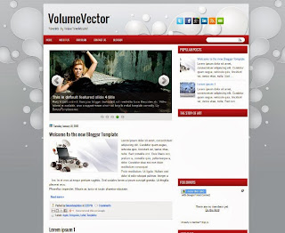 VolumeVector Blogger Template