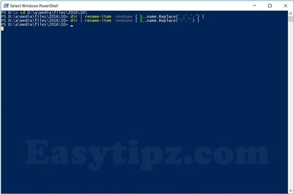 Mass Files, Folders Rename by Windows Powershell Command Line