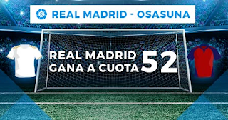 Paston Megacuota liga Real Madrid vs Osasuna 25-9-2019