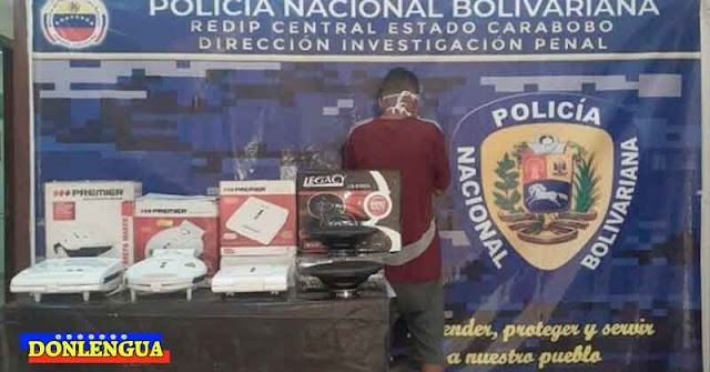 PELIGROSO | Ratero detenido por robarse unas todstadoras de una vivienda en Carabobo